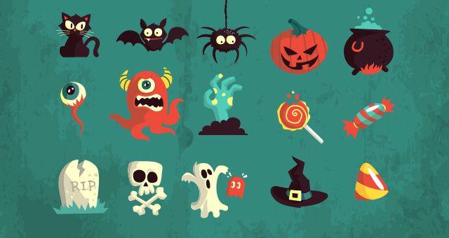 3. 005-happy-halloween-terror-elements-vector-flat-scary-hollydays
