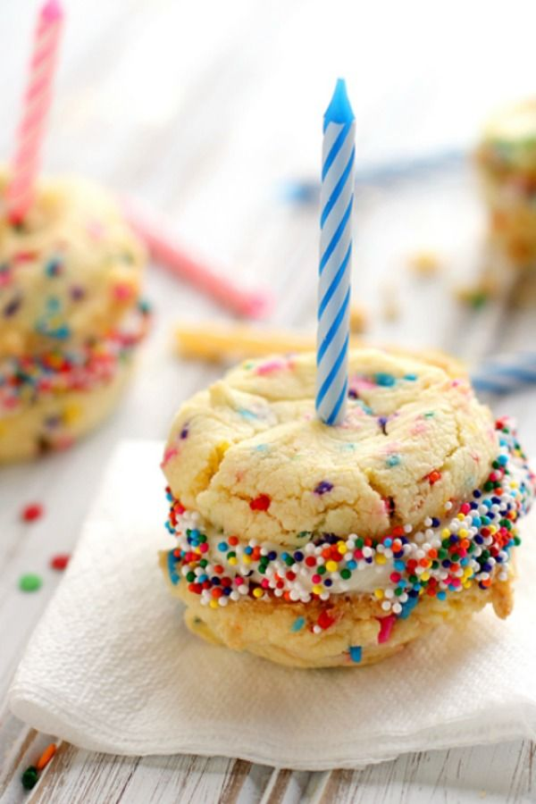 No sprinkle is spared in these birthday cake cookies, perfect for bringing to the office or classroom. No wonder they're one of our most-Pinned cookie recipes—look at how adorable they are! Start with a box of yellow cake mix, and you're just a few simple ingredients (and about 25 minutes) away from party time.
