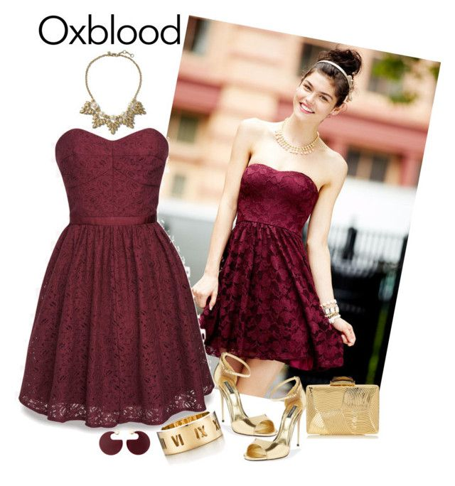 """""""Hot Color Trend:Oxblood"""" by jasmineroselily123 ❤ liked on Polyvore featuring Jack Wills, Dolce&Gabbana, Banana Republic, KOTUR, Tiffany & Co., Marni and oxblood"""