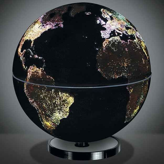 #LGLimitlessDesign  #Contest  Get inspired to travel around the world with this globe that mimics the sparkling city lights.
