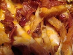 Cheese & bacon fries, a definite sometimes food! Looks Delicious!