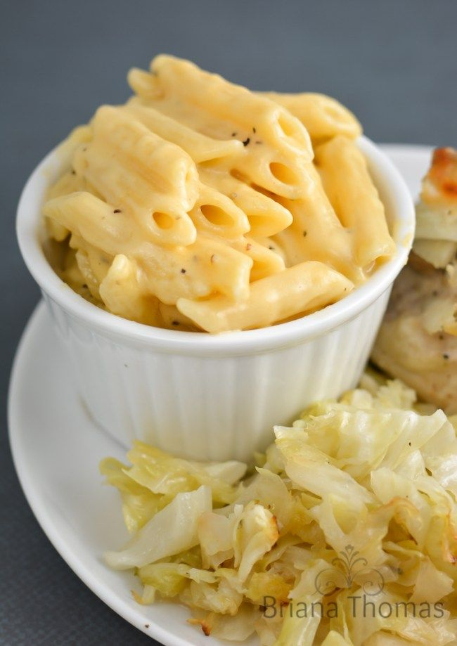 Healthy Mac and Cheese (THM: S with zoodles or Dreamfields pasta)