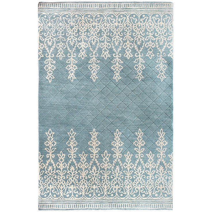Kushi Border Rugs   Blue Pier 1 (Matches The Wallpaper I Want For Living  Room)u2026
