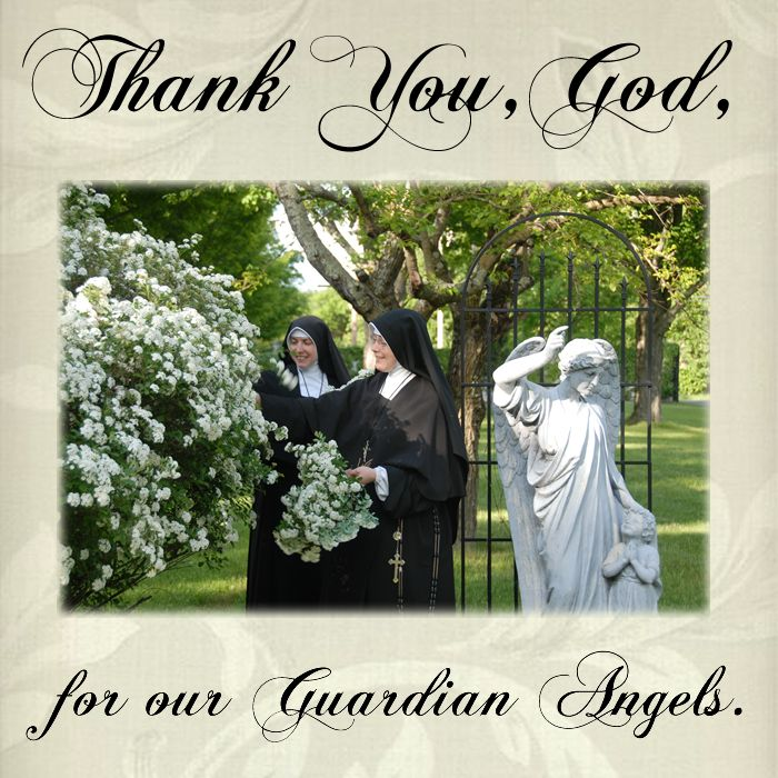 Thank You, God, for our Guardian Angels.  #DaughtersofMaryPress #DaughtersofMary