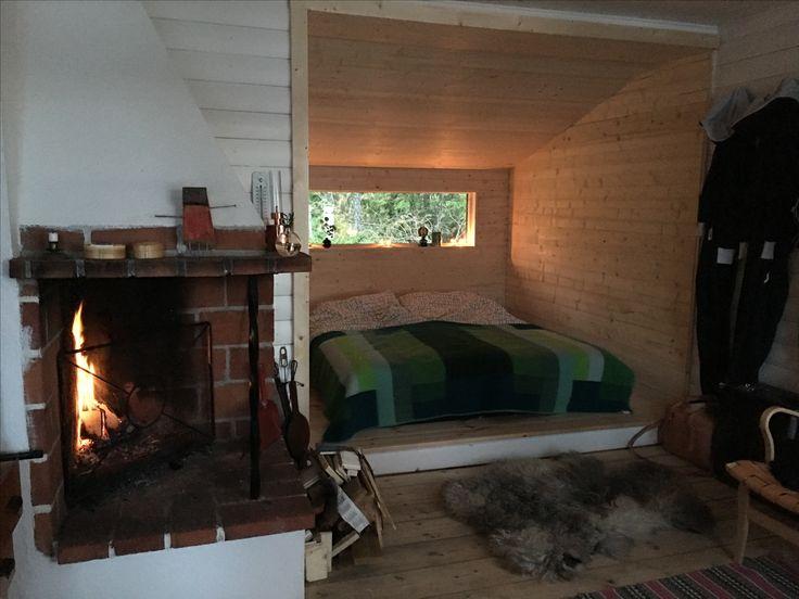 This summer we built a bedroom for us👍 #interior #sommarstuga #cabin