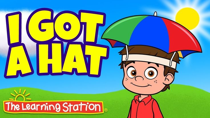 """""""I Got a Hat Song""""  by The Learning Station is a FUN clothing song for kids! Why do we wear hats? What kind of hats do we wear in the summer? What kind of hats do we wear in the winter? Which hats are worn to protect our head? I Got a Hat is a popular action song for kids that teaches children about clothing, and promotes reading, memory skills, sequencing and learning."""