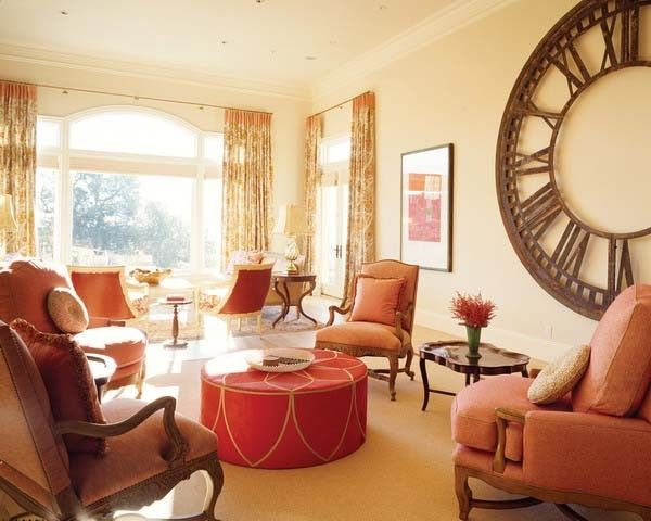 Red Brown Colors Room Decorating Ideas For Fall