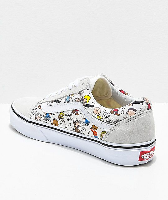 Vans x Peanuts Old Skool Multi-Colored   White Skate Shoes in 2019 ... 9df55d013