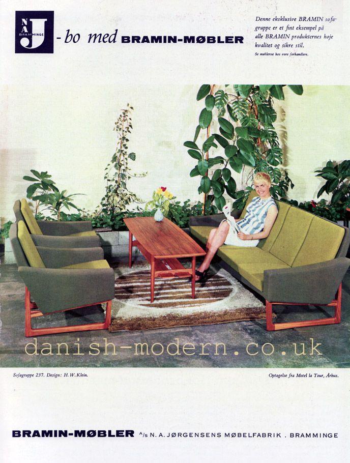 HW Klein For NA Jørgensens Møbelfabrik (Bramin) 1964