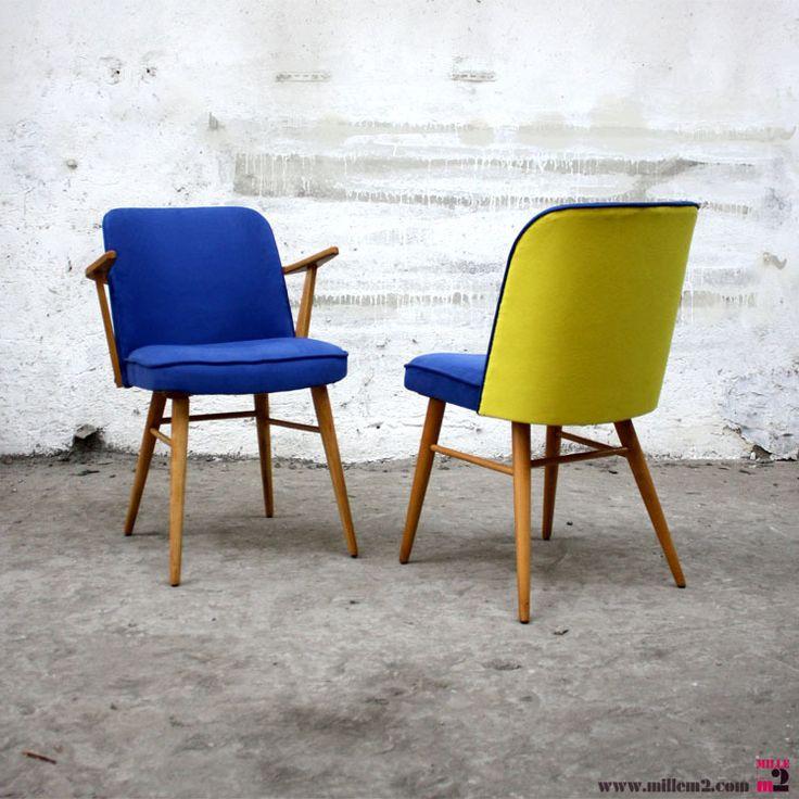 15 best chaise bleue croisette images on pinterest blue for Chaise eames jaune moutarde