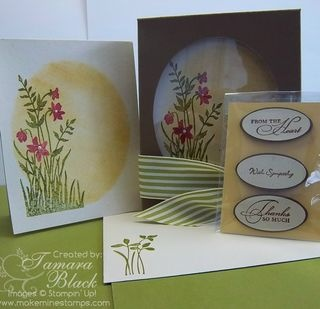 Boxed cards with pick your own sentiment
