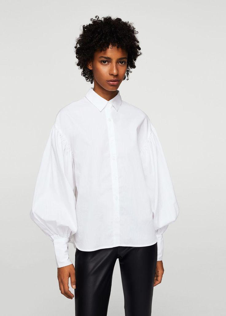 Puffed sleeves shirt -  Women | MANGO USA