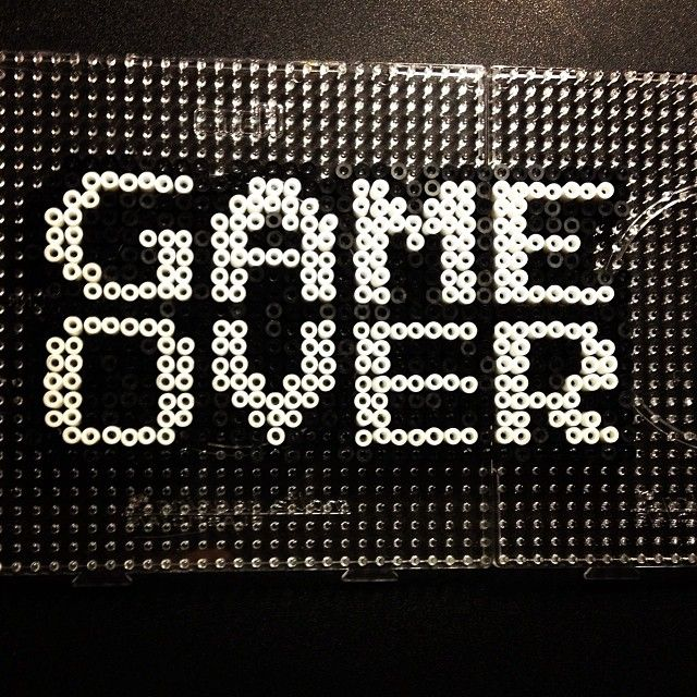GAME OVER perler beads by sajagee