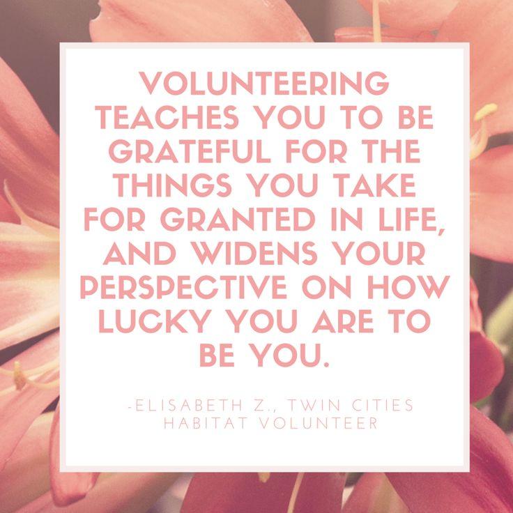 #volunteer #quotes from Twin Cities Habitat volunteers!