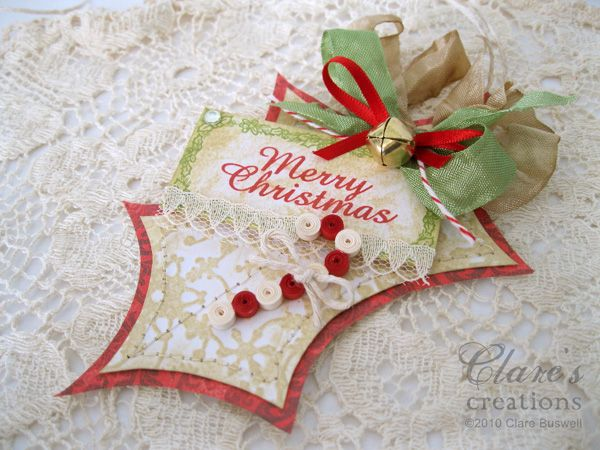 Clare's creations: Holly shaped vintage tags