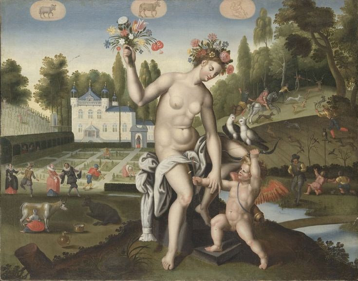 Artist/maker unknown, Flemish. After an engraving by Adriaen Collaert, Flemish, c. 1560 - 1618. After a design by Maarten de Vos, Flemish, 1532 - 1603 - Spring (Companion to Summer, Autumn, and Winter), c. 1575-1625. Philadelphia Museum of Art