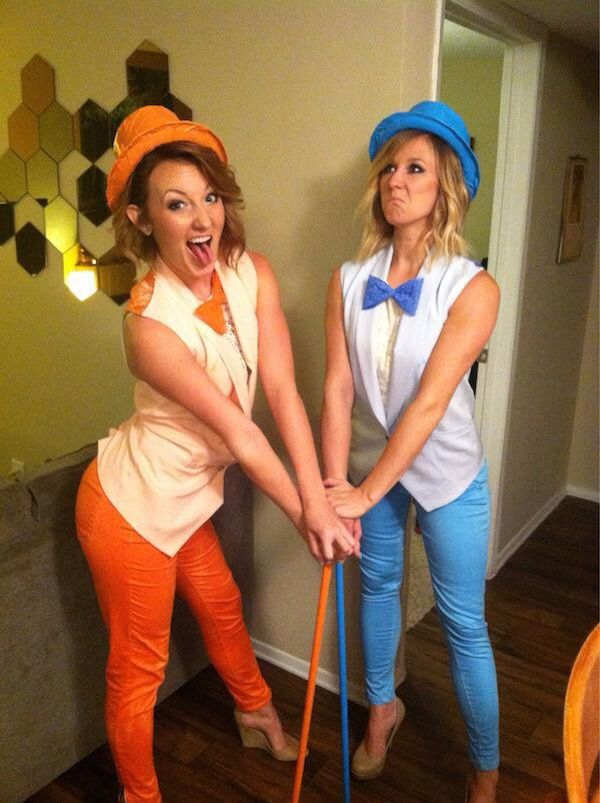 Cute dumb & dumber lady costume idea