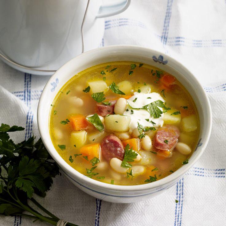 Rezept für Weiße Bohnensuppe mit Mettendchen | Küchengötter