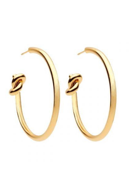 Knot Hoop Earrings gold plated
