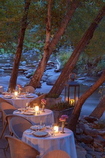 Cress on Oak Creek at L'auberge de Sedona (Sedona, AZ) | The 100 Best Restaurants in America to Eat Outside via @PureWow