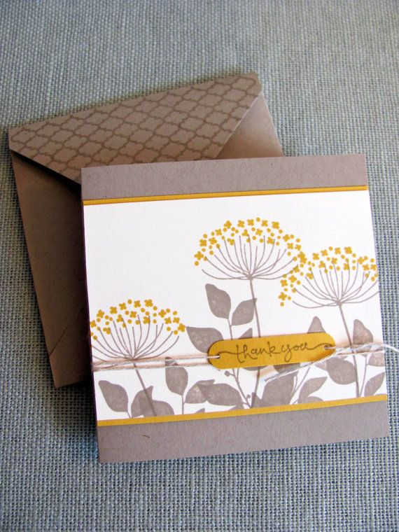Stampin Up Flower Thank You Note Cards on Etsy, $15.00 ...