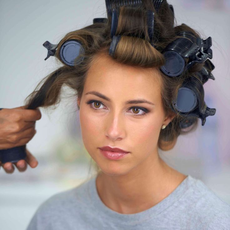 Best 25 using hot rollers ideas on pinterest hot rollers hair how to use hot rollers brunette model with barrel rollers in her hair urmus Gallery