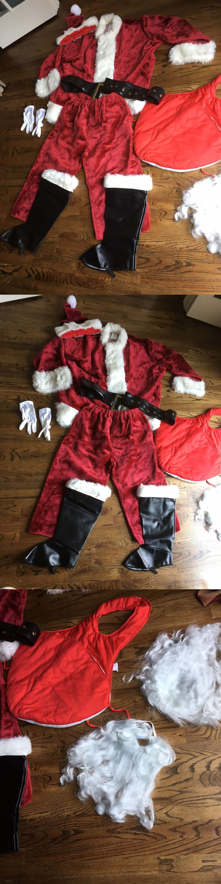 Halloween Costumes Men: Santa Claus Costume Adult Mens Deluxe Suit Christmas Outfit -> BUY IT NOW ONLY: $85 on eBay!