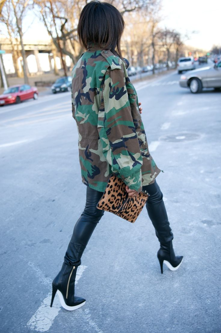 army leather and cheetah