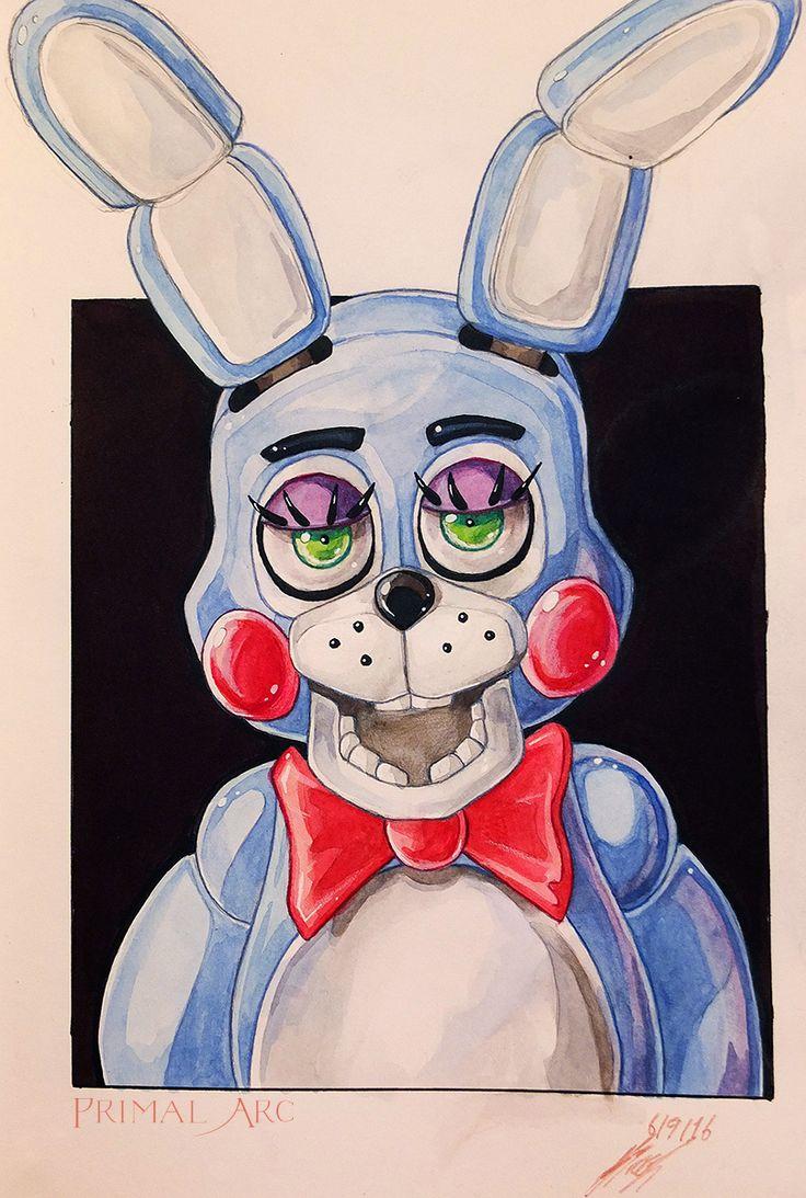 'Toy Bonnie', watercolour. #fnaf #fivenightsatfreddys