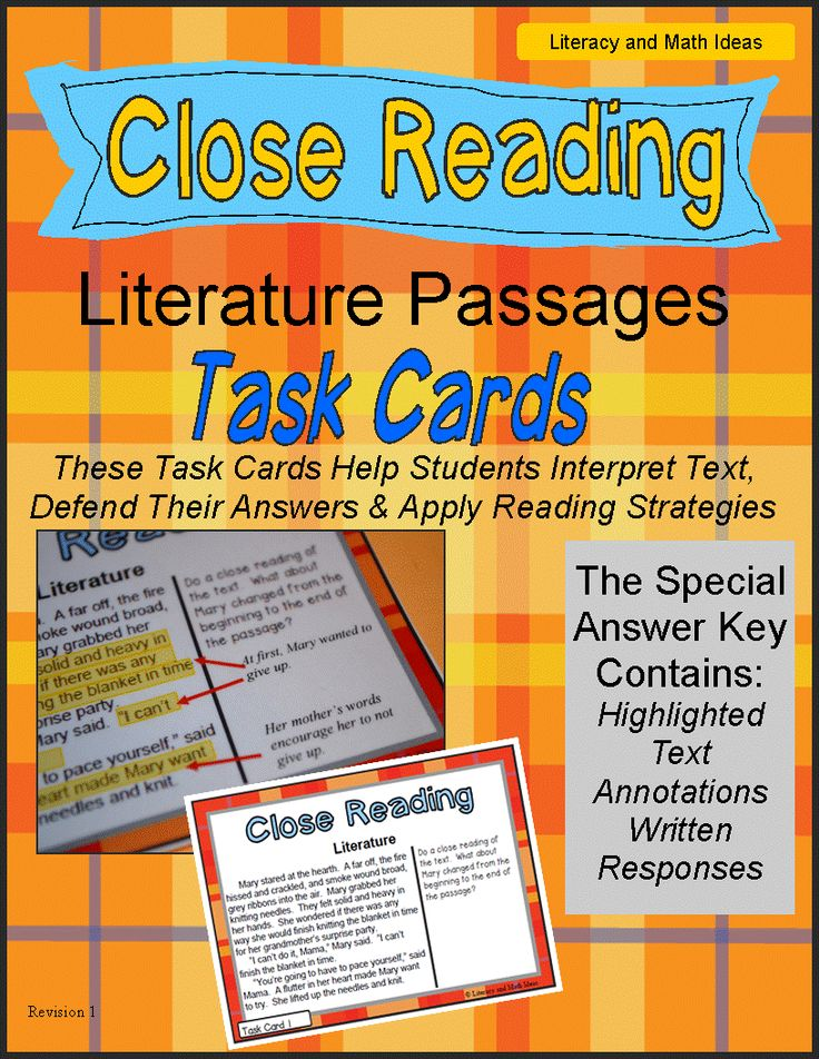 (Just Released) These task cards help students interpret what they read and defend their answers with evidence from the text. A special answer key is included that shows highlighted key details from the text, annotations, and a written response for each task card question. This enables students to apply close reading skills during small group instruction or literacy center time. This is ideal tool for transitioning to Common Core. It aligns to state assessments too.$