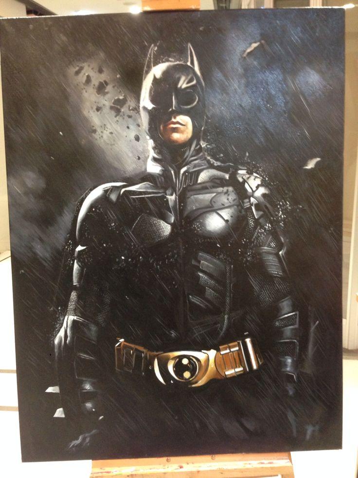 Batman painting by amazing Hong Kong artist Law Sir!