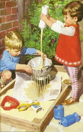 Ladybird Book - Playing with sand
