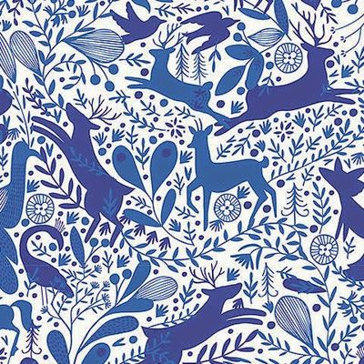blue animals - wrapping paper from the Paper & Cloth Studio