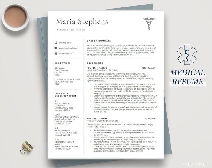 Nursing resume template nurse resume design nursing
