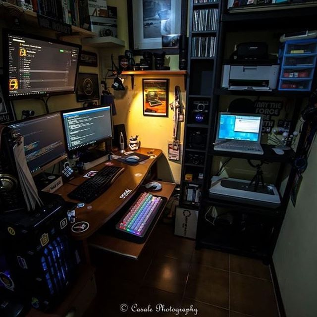 what my space will most likely end up looking like tbh computer setupdesk