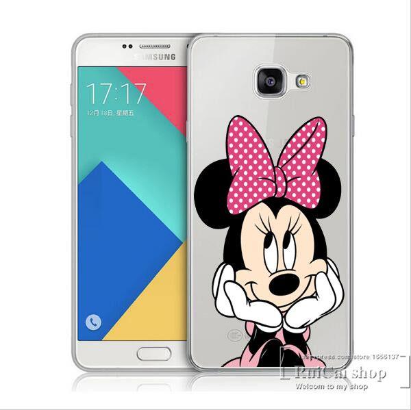 Cute Cartoon Mickey Mouse Hard Cover Case For Samsung Galaxy A3 A5 A7 J1 J5 J7 2016 A310 A510 A710 Minnie Transparent Cases