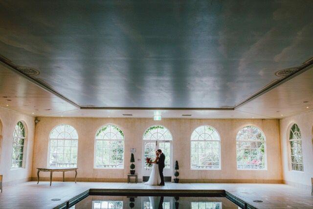 Pool house, wedding, bride and groom, Milton park, Bowral wedding