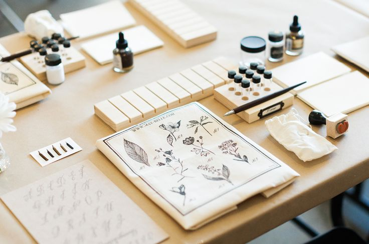 Maybelle Calligraphy workshop @Poketo Los Angeles July 2014 Photos by Diana Lee