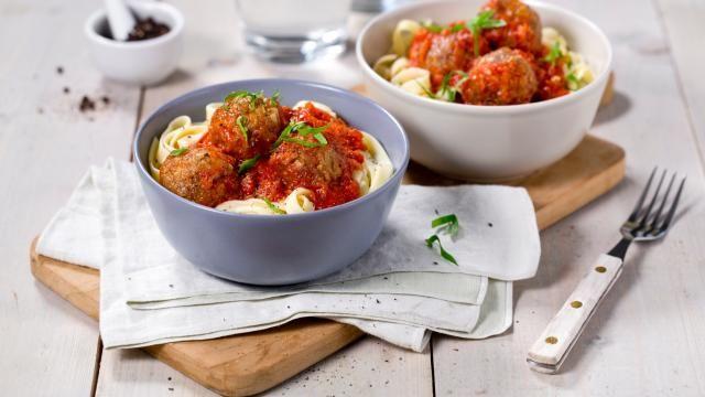 Oppskrift på Spaghetti med kjøttboller uten kjøtt