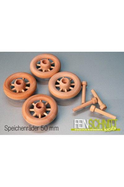 Speichenräder aus Holz inkl. Achsdübel in verschiedenen Größen für Modellbau usw.