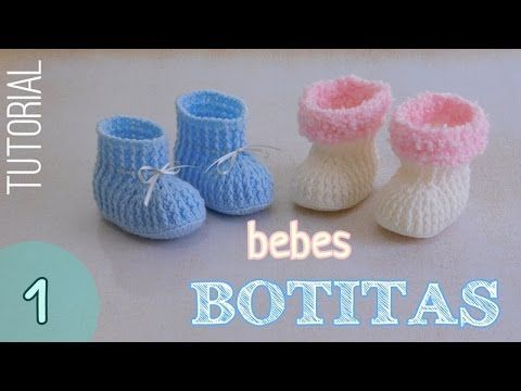 Patucos de ganchillo básicos, fáciles y rápidos. Easy crochet baby booties. Tutorial paso a paso. - YouTube