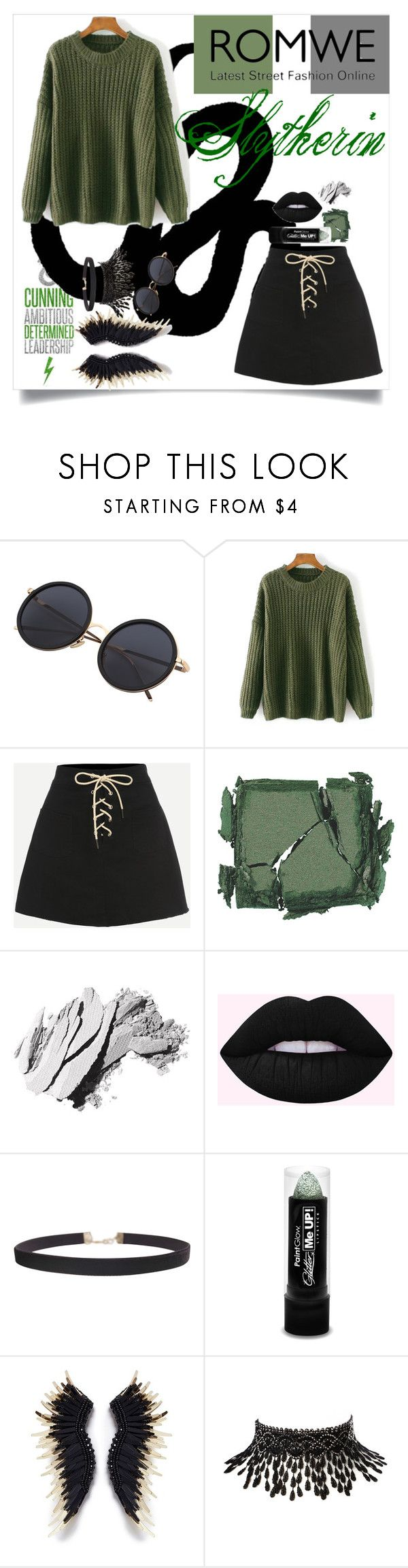 """""""Slytherin aesthetics"""" by katreesespieces ❤ liked on Polyvore featuring Surratt, Bobbi Brown Cosmetics, Humble Chic, Mignonne Gavigan, Amrita Singh, harrypotter, slytherin and hogwarts"""