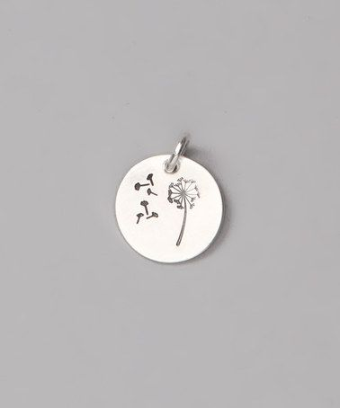 Look what I found on #zulily! Sterling Silver Dandelion Wish Charm by Five Little Birds by Littlefield Lane #zulilyfinds
