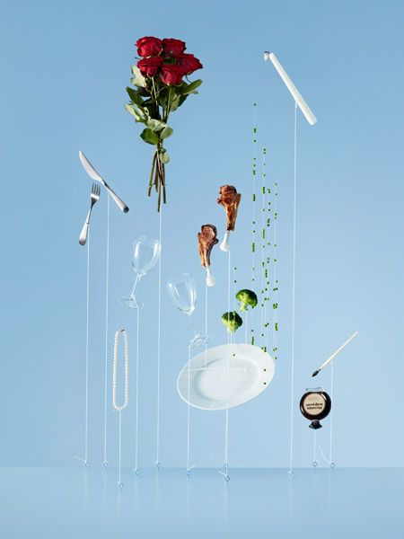 """Avios"" by Carl Kleiner is a photo series of everyday objects that appear to be falling (or floating upwards, depending on how you look at them). The series was created in collaboration…"