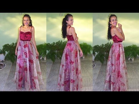 Como Traçar Vestido com godê diferente - Faby Corte e Costura - YouTube