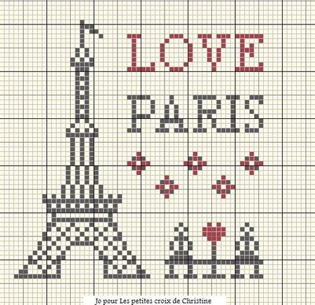 eiffel tower paris france free cross stitch cross. Black Bedroom Furniture Sets. Home Design Ideas