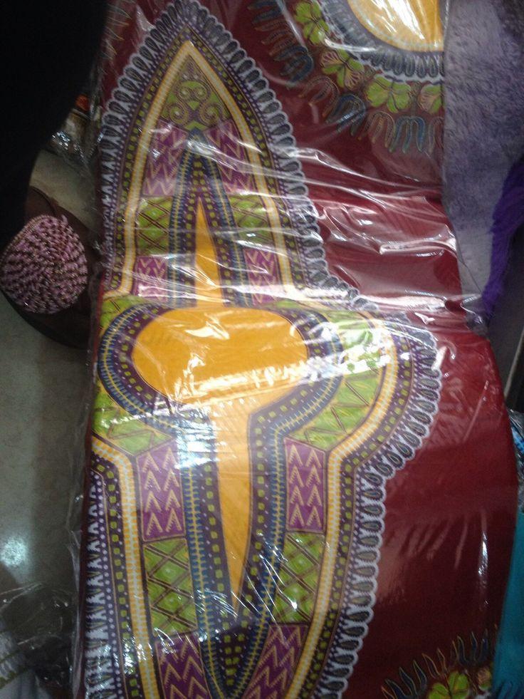 Magenta Dashiki Fabric Traditional Dashiki Pattern With Yellow-6 Yards. FREE…