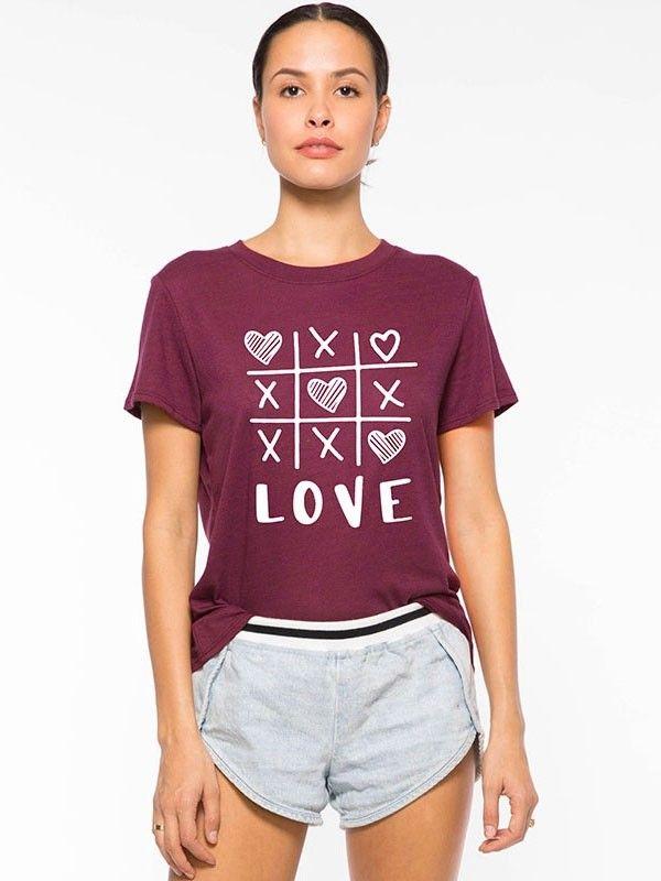 581f9fe62 Dresswel Women Explosive LOVE Letter Print T- shirt Tops $12.99 #dresswel # women #fashion #t-shirt #letterprint