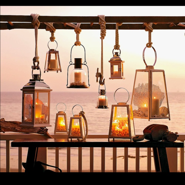 Use A Ladder To Hang Lanterns From For Lighting Indoors Or Out
