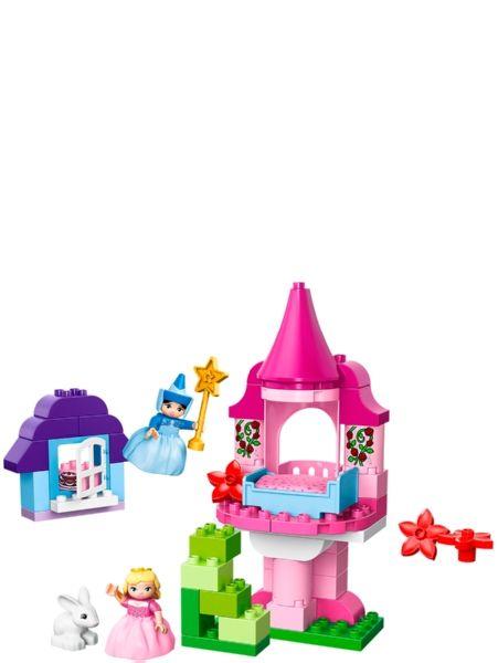 Lego Duplo, Satu Prinsessa Ruususesta. Tervetuloa Prinsessa Ruususen maagiseen linnantorniin ja haltijatar Tähdettären metsämökkiin! Heittäydy ihanaan prinsessaseikkailuun Tähdettären taikasauvan ja upeasti pukeutuneen Auroran kanssa! Mukana on myös suloinen valkoinen pupu, kukkia, ruusuköynnös ja kakku. 2–5-vuotiaille. 55 osaa. Tuotenumero 10542.